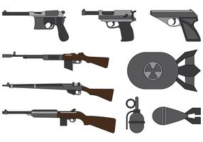 Vector Collection Of World War 2 Weapons