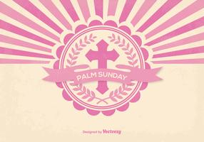 Retro Style Palm Sunday Illustration