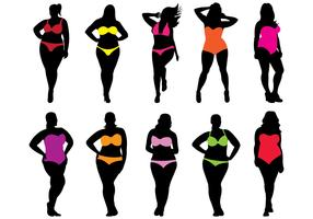 Swim Suit Women Vectors