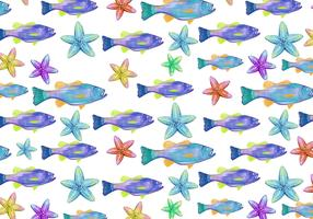 Free Vector Watercolor  Bass Fish Background