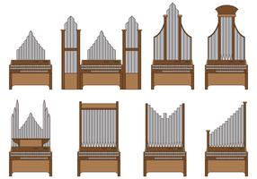 Set Of Pipe Organ Vector