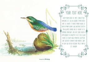 Beautiful Watercolor Bird Text Template