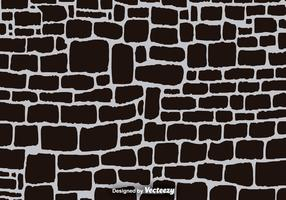 Black Cartoon Stone Wall Vector Background