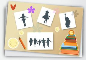 Yearbook for School with pencils book vector