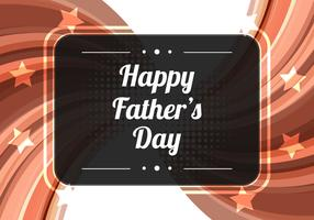 Free Vector Brown Modern Father's Day Background