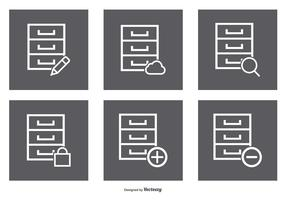File Cabinet Icon Set