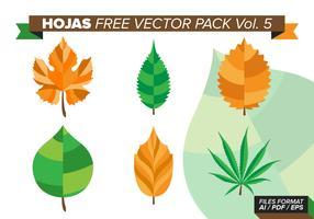 Hojas Free Vector Pack Vol. 5