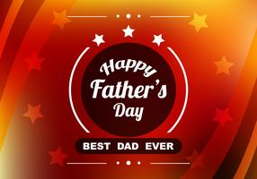 Free Vector Red Colorful Father's Day Background