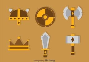 Barbarian Element Icons Vector