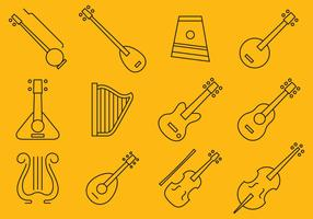 Stringed Instrument Icons