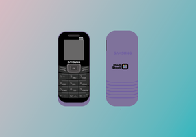 Classic Phone Vector Samsung Torch GE1200T Light Purple