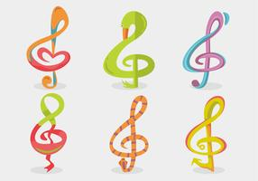 Violin Key Vector Set