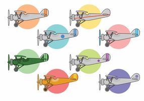 Biplane Vector Set