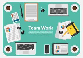 Free Business Team Work Illustration Vector