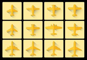 Avion Airplane icon flat design