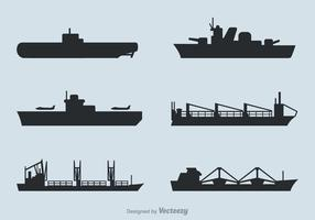 Free Ships Silhouettes Vector Set