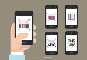 Free QR And Barcode Scanner Vector Icons