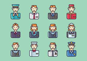 Set of Hotel Staff Vectors