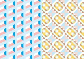 Pastel Square Geometric Pattern