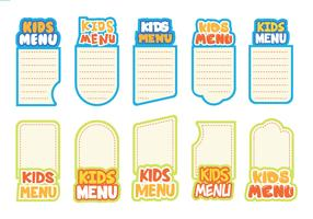Free Kids Menu Vector