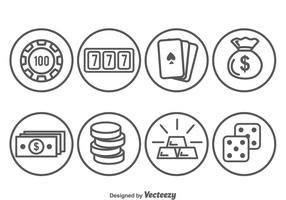 Casino Element Circle Icons