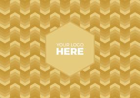 Free Vector Gold Chevron Logo Background