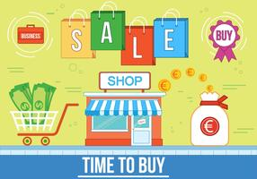 Free Time to Buy Vector Illustration