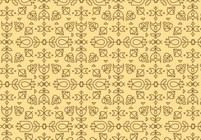 Yellow Outline Geometric Pattern