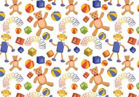 Kinder Spielzeug Muster Vektoren