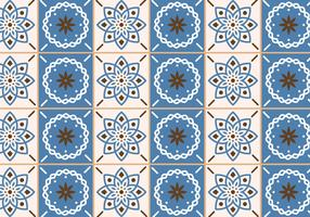 Beige and Blue Tiles