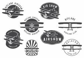 Biplane Badge Set