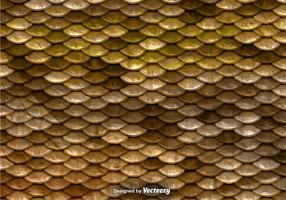 Brown Fish Scales Vector Pattern