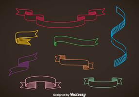 Colorful Sash Vector Set