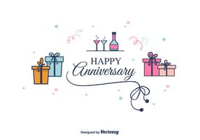 Anniversary Vector Background