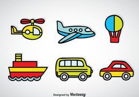 Transportation Vehicle Cartoon Vector