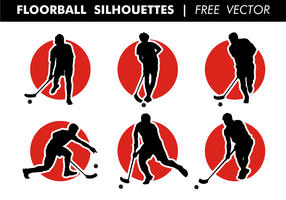 Floorball Silhouettes Free Vector