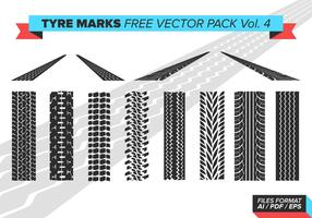 Tire Marks Free Vector Pack Vol. 4