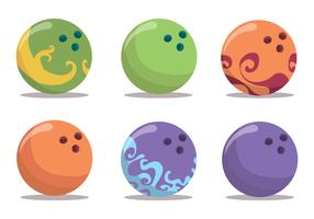 Bowling Ball Vector Set
