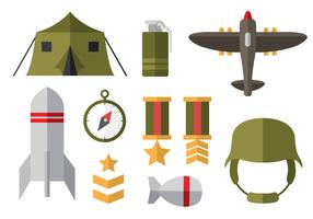 Free World War 2 Flat Icons