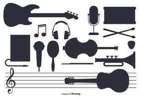 Conjunto de instrumentos de música vectorial