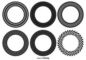 Round Tire Track Shapes