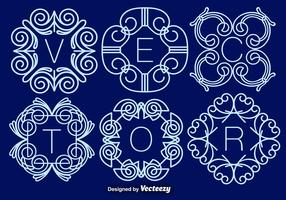 Set Of Elegant Monograms, Vector