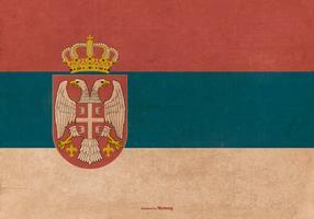 Old Grunge Serbia State Flag