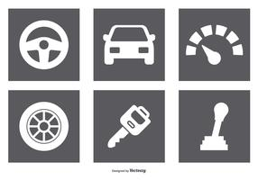 Car Parts Icon Set