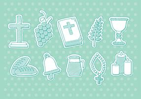 Drawn Eucharist Vector Icons
