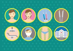 Plastic Surgery Vector Icons