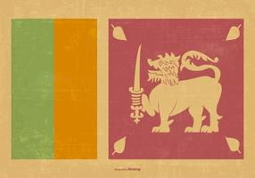 Vintage Flag of Sri Lanka