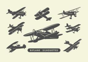 Biplane Silhouettes
