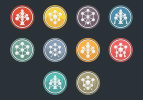 Atomium Icon Vector Pack