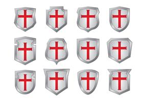 Templar Shield Shapes Vectors